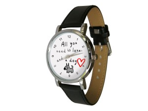 All you need is love and a dog design watch ©