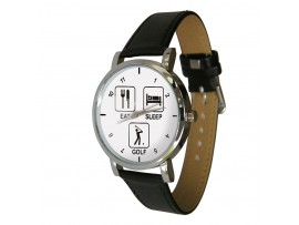 Eat Sleep Golf Design Watch