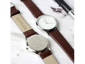 Personalised Unisex Silver Watch with Presentation Box