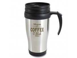 Personalised Coffee O'Clock Travel Mug