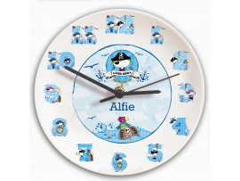 Personalised Pirate Letter Clock