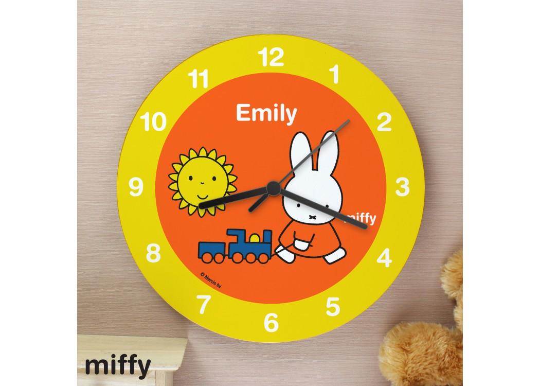 Personalised Miffy Wooden Clock Yourwatchdesigncouk