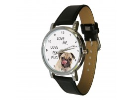 Love me, love my Pug design watch ©