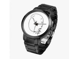 Hannibal Clock on a Watch. Automatic movement - Black Case