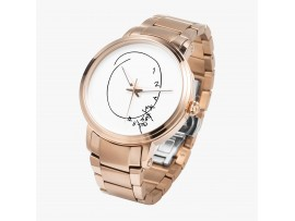 Hannibal Clock on a Watch, Automatic movement - Gold coloured Case