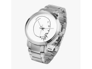 Hannibal Clock on a Watch, Automatic movement - Silver coloured Case