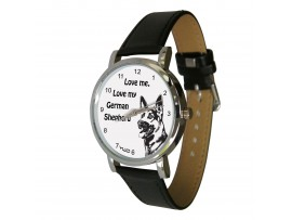 Love me, love my German Shepherd design watch ©
